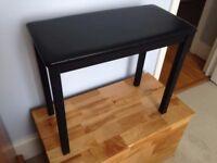 Black Piano Bench, sturdy