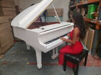 BRAND NEW WHITE BABY GRAND PIANO (WITHOUT SELF PLAYING SYSTEM)