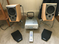 Denon UD-M30 CD/Radio/Amp plus 2 x Mission M70 Parcel Shelf Speakers and Stands