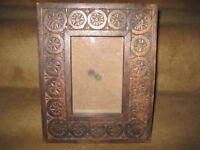 Carved Wooden Photograph Frame