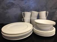 White China dinner set