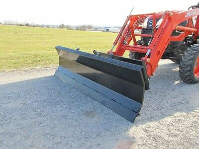 "NEW 78"" SNOW PLOW. QUICK ATTACH, MANUAL ANGLE, KUBOTA, KIOTI, MANHINDRA, DEERE"