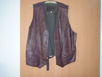 GENTS CLOTHING from L to 3XL including a LEATHER WAISTCOAT, a RAINCOAT a BRAND NEW SUIT, JACKETS etc