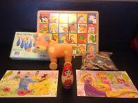 7 x Wooden Toys - Puzzles Matryoshka Skittles Pull along BUNDLE