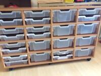 24 drawer storage unit