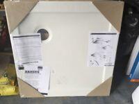 Unused 800mm sq shower tray