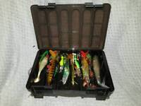 Pike and Predator Lures in box