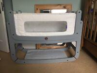 Snuzpod 2 Bedside Crib/Cot Dove Grey with Accessories
