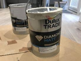 DULUX diamond matt 5L paint, GREY STEEL 3 / light grey UNOPENED
