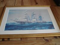 Framed Picture - Sailing Boat / Ship. 60.5 x 45cm