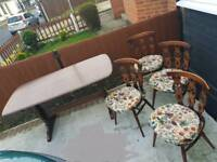 Vintage Ercol rectangular table and 4 chairs