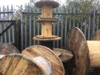 Wooden cable drums various sizes from 500mm up t 1800mm diameter can deliver locally for a fee