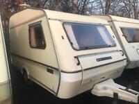 1990 compass echo swift lightweight 2 berth Caravan MUST CLEAR