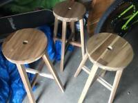 3 x Ikea Skogsta bar stools