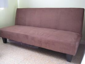 Sofa Bed (Daytona) in brown Faux Suede £65.00 ono