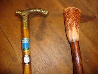 Pair Of Traditional Timber Walking Sticks.