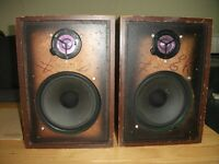 VINTAGE BUSH SPEAKERS BY RANK WHARFEDALE DENTON