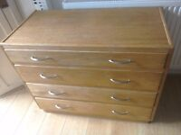 Architects/ chest of drawers solid oak