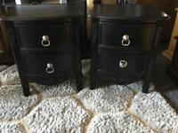 PAIR OF ROCOCO STYLE BEDSIDE DRAWERS.