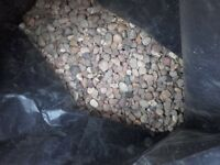 42 bags of 20mm pea gravel