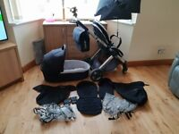 Oyster 2 pram with carrycot and accessories