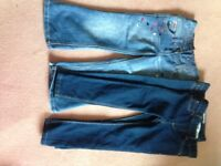 Girls jeans and jeggings age 5/6