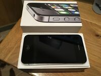 iPhone 4S Black 8GB - Excellent condition with box, headphones, cable & plug (Unlocked)