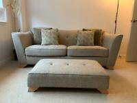 3 seater sofa, chair & foot stool