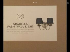 Wall light brand new sealed in box is £69 from marks and Spencer's unwanted gift