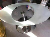 Next oval glass coffee table
