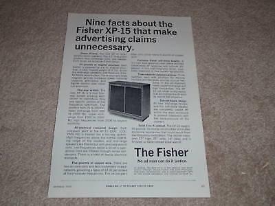 Specs Info 1964 Article Fisher XP-10 Speaker Ad