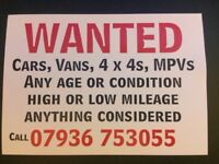 All vehicles wanted!