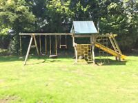 Climbing frame, Rainbow Play Systems Monster Castle Swing Set, super-sized