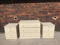 Be side tables and Chester drawers