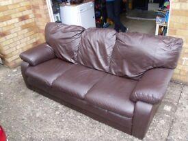 Large Brown italian 3 seater sofa