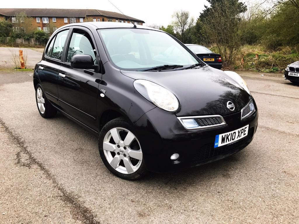 2010 AUTOMATIC NISSAN MICRA N-TEC 5DR BLACK, ONLY 37k MILES, TOUCH SAT NAV, BLUETOOTH, 1YR MOT, MINT