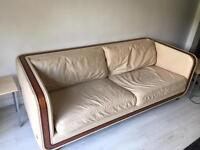 Cream 2and 3 piece Leather Sofas for Sale - Any reasonable offer accepted