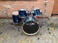 basiX drum kit, planet Z cymbals great kit for beginner to advance drummers