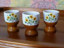Retro - Three Egg cups - Made in Japan Pelican Waters Caloundra Area Preview