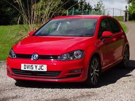 VOLKSWAGEN GOLF 1.6 TDI 105 Match 5dr (red) 2015