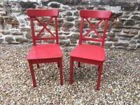 **2 x Ikea Ingolf chairs**