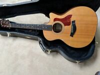 TAYLOR 314CE GRAND AUDITORIUM ACOUSTIC ELECTRIC GUITAR. OWNED FROM NEW 2002.
