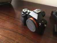 Sony A7 Full-Frame Mirrorless camera body- Boxed/ Accessories in excellent condition