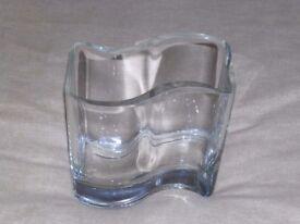 GLASS VASE (UNUSUAL SHAPE)