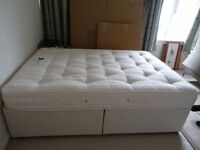 Double divan bed and ortho pocket sprung mattress - Excellent