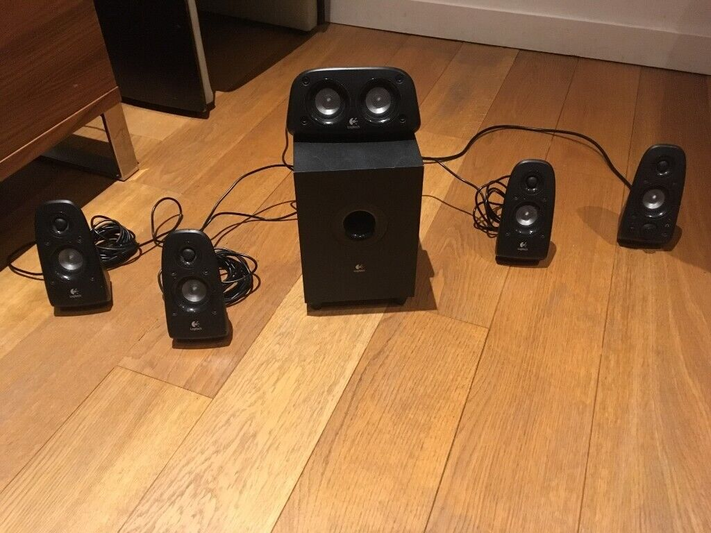 Logitech Z506 Surround Sound Speakers/Surround Sound System - Black   in  Greenwich, London   Gumtree