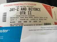 Jay Z & Beyonce OTR tour, 2 tickets Cardiff 06/06/18