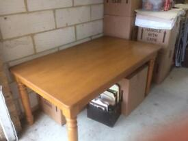 Pine kitchen table (solid wood very heavy)