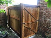 Side gate wooden gate garden gate