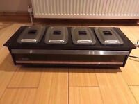 PHILIPS HOT FOOD PLATE WARMER. with 4 DISHES. Brand New